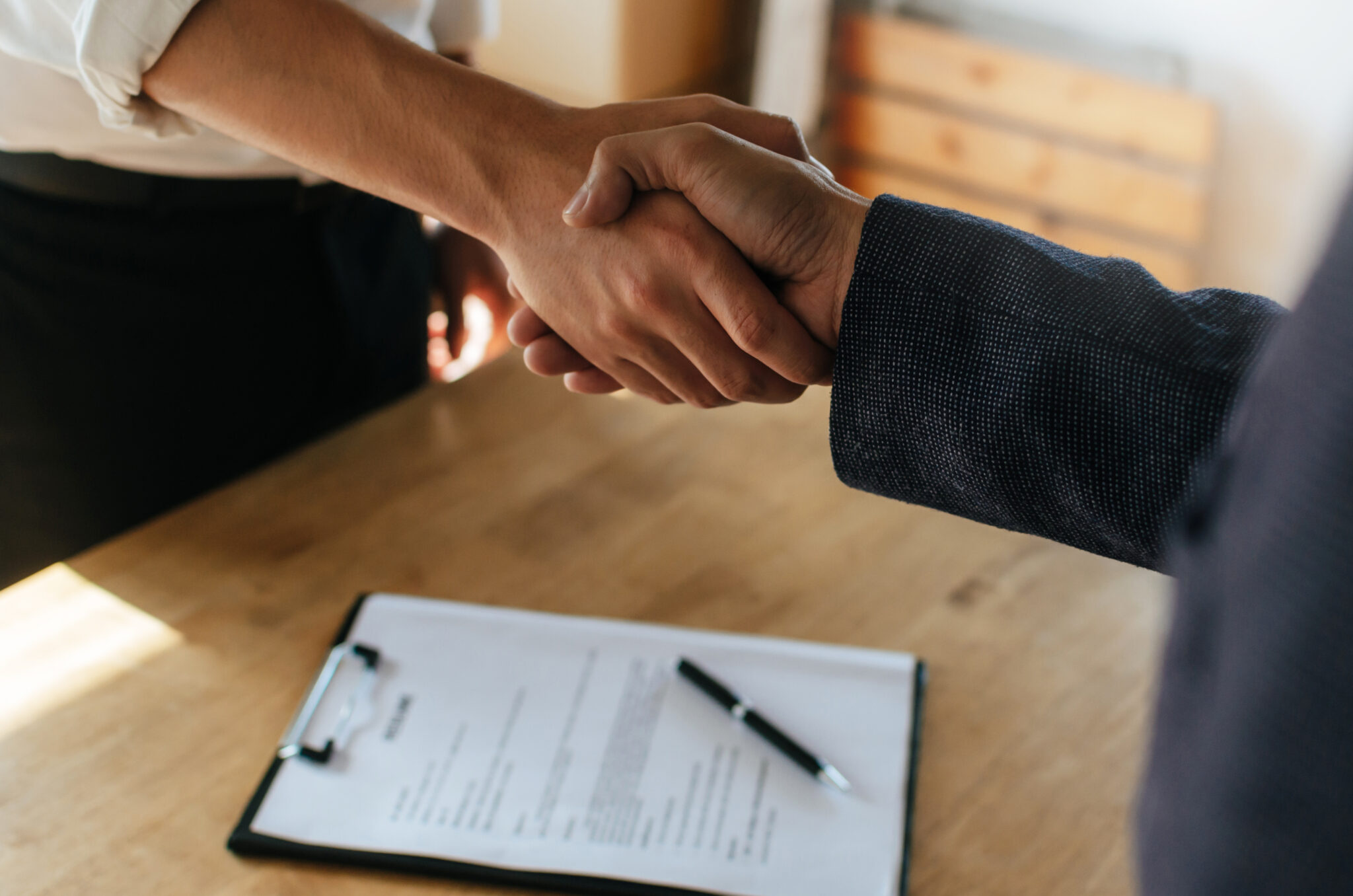 Partnership.,Two,Business,People,Shaking,Hand,After,Business,Signing,Contract
